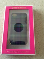 GENUINE JUICY COUTURE PLAID multicolor IPHONE 4/4S CASE hard plastic MSRP 35.00