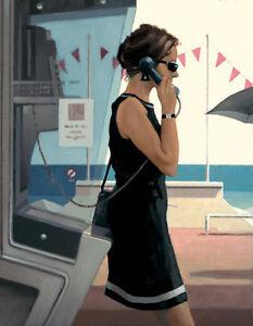 Jack Vettriano greeting card - Her Secret Life