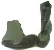 Military Surplus Wet Weather Olive Drab Green Rubber Overshoes/ Boots Size 8