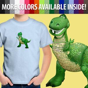 Toddler Kids Boy Tee Youth T-Shirt Gift Printed Tyrannosaurus Rex Dinosaur Toy