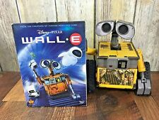 WALL E Disney Pixar Lot Thinkway Electronic Interactive Toy Talks Lights  DVD