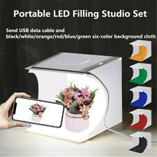 Mini Box Pliage Lightbox Photographie Studio Softbox LED Lumière Caméra Photo FR