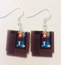 Super Mario Brothers Duck Hunt Cartridge NES Earrings HANDMADE PLASTIC CHARMS