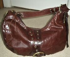 Fabulous Vintage SUZY SMITH Large Dark Tan Leather Shoulder Bag/Tote