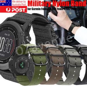 Military Nylon Watch Band Strap For Garmin Fenix 5X 5S /Fenix 3 HR/Fenix 5 Plus