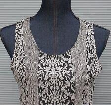 Hem & Thread Dress Black & White Sleeveless Size Large