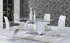 ALIANA 5PC DINING SET D9002DT D9002DC WH TABLE & 4 CHAIRS WHITE