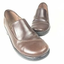 """Clarks - Size 10M - Womens Brown Leather Loaferswith 2"""" Heel"""