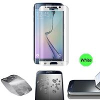 FULL CURVED TEMPERED GLASS LCD SCREEN PROTECTOR FOR SAMSUNG GALAXY S6 EDGE White