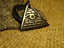 "Shungite pendant ""all-seeing eye in the triangle"" Karelia magical talisman."