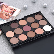 Hot Pro 15Colors Warm Nude Matte Shimmer Eyeshadow Cream Palette Makeup Cosmetic