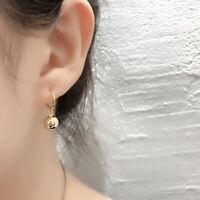 Creolen mit Anhänger Kugel echt Sterling Silber 925 Damen Ohrringe Ohrhänger