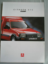 Citroen C15 Champ brochure Sep 1996