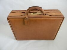 Vintage Hartmann Luggage, Belting Leather Briefcase w/combination lock 18x13x 5