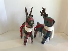 Target Plush Reindeer Deer Holiday Christmas Tree OrnamentS Lot of 2