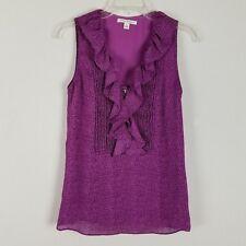 Banana Republic womens sleeveless professional ruffled polyester blouse size 0