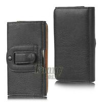 Belt Clip Pouch Holster Leather Cover Case For Samsung Galaxy S5 / S5 Neo