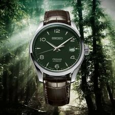 Seiko Limited Edition Presage Mens Watch Green Enamel Dial Mens Watch