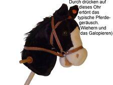 Schwarzes Steckenpferd / Rappe Plüsch Kinderspielzeug von Holzspielzeug-Peitz