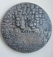 POLAND POLISH WWII  KATYN KOZIELSK OSTASZKOW NKVD SOVIET MASSACRE  MEDAL