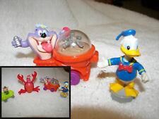 McDonalds  Toys  Little Mermaid crab,animaniacs,Donald duck  pig in car set 4
