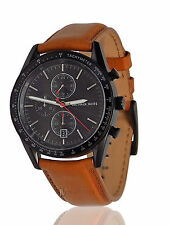 NWT MENS MICHAEL KORS (MK8385) BROWN LEATHER CHRONOGRAPH ACCELERATOR WATCH SALE!