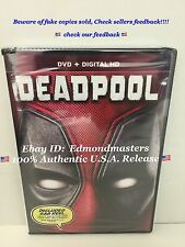 DEADPOOL 2016 DVD+DIGITAL HD (BEWARE OF CHEAP FAKES SOLD WITHOUT DIGITAL CODE)