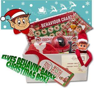 Christmas Elf Xmas Box Santa Children Kids Elves Bed Santa Cam Camera Sticker