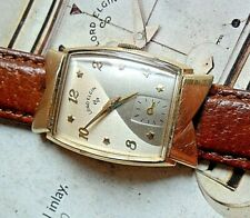 Spin Dial Vintage 1950's Men's Lord Elgin 14k Gold Filled 21 Jewel Cal 670 Watch