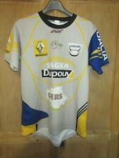 Maillot rugby porté n°8 Sélection du GERS gris bleu Renault Dacia M
