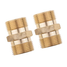 2Pcs Brass Pressure Washer Accessory Quick Coupler Male Socket M22x 1.5 15mm