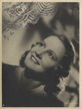 Femme Portrait Harcourt Paris Dédicace Vintage Argentique 1941