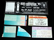 Kiss Band ACE FREHLEY Concert Tour 1987 1993 1995 2008 6pc Lot Full Ticket Stub