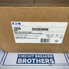 Eaton Dh363nrk 100 Amp 600v 3p 4w Nema 3r Outdoor Disconnect Switch New In Box