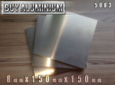 8mm Aluminium Plates 150mm x 150mm - 5083