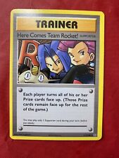 Here Comes Team Rocket 15/82 Rare Team Rocket Pokemon Card NM. Sold In Protextoe
