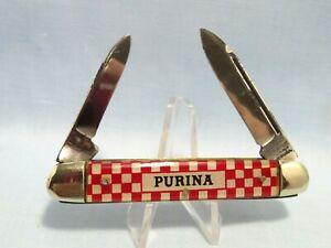 Vintage Kutmaster, Utica, N.Y., PURINA  Advertising, Unused 2-Blade Pocket Knife