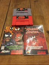 Spider Man Snes Super Nintendo Lot Games And Manuals