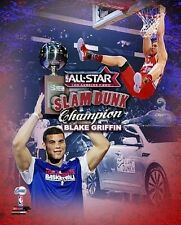 BLAKE GRIFFIN 2011 All-Star SLAM DUNK over car LA Clippers rookie 8x10 photo