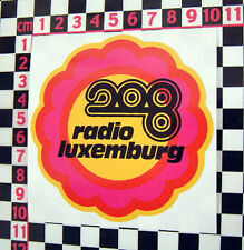 1960's Radio Luxemburgo Coche Clásico Flower Power pegatina-Vw Beetle Van Camper
