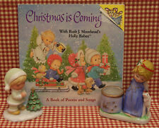 Christmas Lot 2 Child Figurines 1 Book Angel Religious