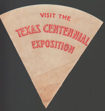 SCARCE 1936 Texas Centennial Exposition Unused Water / Ice Cream Cup Dallas TX