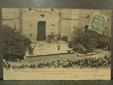 cpa 84 orange representation comedie francaise theatre antique