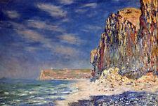 Art Oil painting Claude Monet - Cliff near Fecamp impressionism landscape canvas