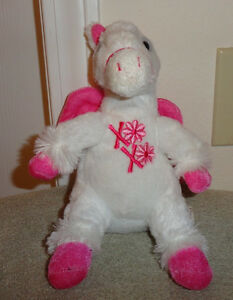 Dan Dee Collectors White Pegasus Plush Stuffed Toy Animal Pink Wings Hooves