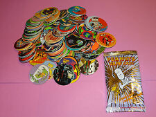 Pogs 120 Misc Variety + Peanuts Game Pack with 5 Caps and 1 Slammer per Pack