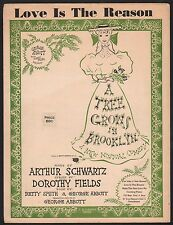 Love Is The Reason 1951 A Tree Grows In Brooklyn  Shirley Booth  Sheet Music