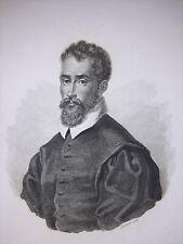 Ritratto/ Vincenzo Scamozzi Architetto/ Vicenza Fusinati acquaforte 1837