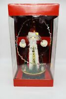 "Bombay Nutcracker 18"" Musical Rotating Wizard Plays Winter Wonderland in Org Box"
