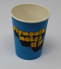 NOS Mopar Plymouth Makes It Paper Coffee Cup